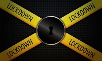 lockdown concept achtergrond