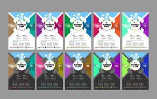 kleurrijke zakelijke flyer collectie