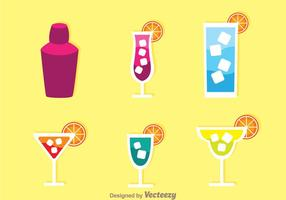 Alcohol cocktail iconen vector