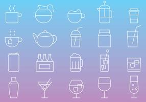 Drinken Line Icons vector