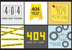 404 schermen vector