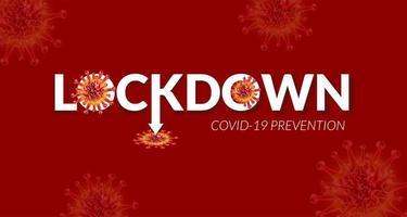 lockdown voor covid-19 preventieposter