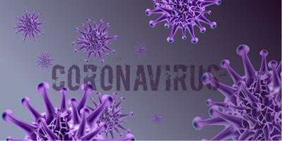 paarse coronavirus achtergrond