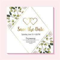 bewaar de datumkaart met bladeren