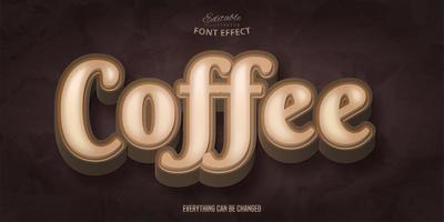 koffie bruin lettertype-effect vector