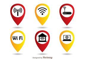 Wifi symbool set vector