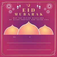 paarse gradiënt eid mubarak uitnodiging
