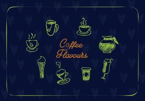 Creatieve koffie iconen vector