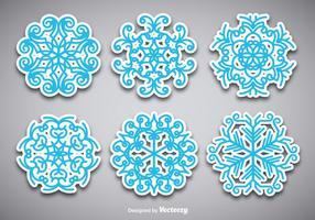 Sneeuwvlok stickers vector