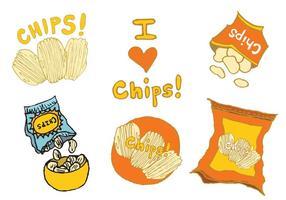 Gratis Zak Van Chips Vector Reeks