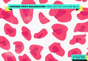 Luipaard Print Achtergrond Gratis Vector Textuur Vol. 2