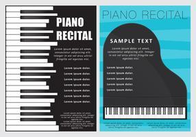 Piano recitatie flyers vector
