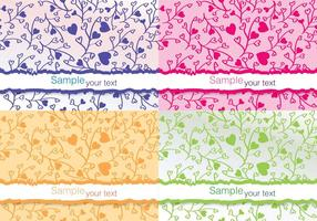 Kleurrijke Bloem Vector Kaarten