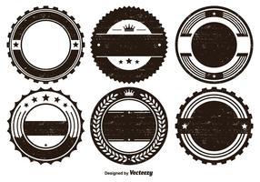 Nauwkeurige Badge Vorm Set vector