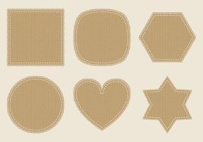 Burlap vector labels