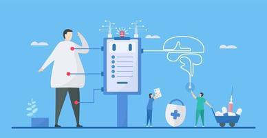 digitale gezondheid is een mix van technologisch ontwerp vector