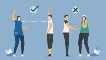 sociaal afstandelijk infographic ontwerp