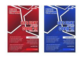 laten we vechten tegen corona covid-19 poster voor medisch bewustzijn