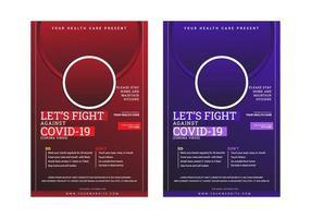 modern laten we vechten tegen covid-19 postersjabloon voor de volksgezondheid