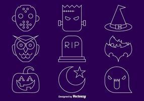 Halloween lijn iconen