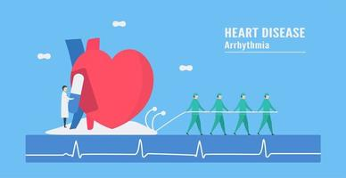 bradycardie aritmie concept met arts en medicatie
