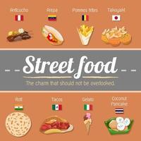 wereldwijde straatvoedselaffiche