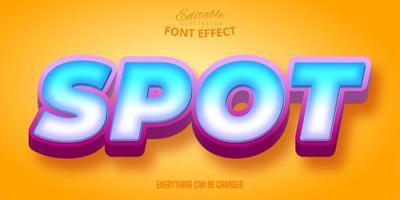 bewerkbaar lettertype-effect met blauw verloop