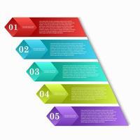 kleurrijke infographic sjabloon met geëxtrudeerde blokjes