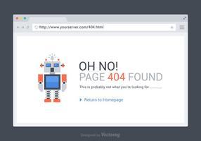 Gratis 404 Pagina Gevonden Vector Sjabloon