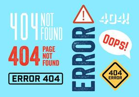 404 fouten vector