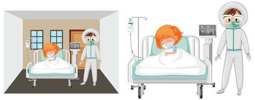 covid-19 patiënt in het ziekenhuis