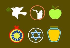 Rosh Hashanah Pictogramvectoren vector