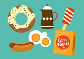 Voedsel Pictogrammen vector