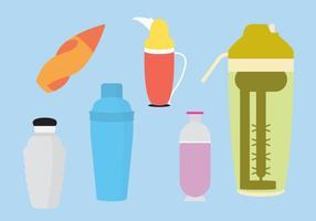 Set Cocktail Shakers In Vector