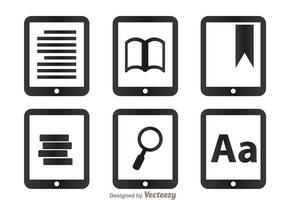 Lees pictogrammen op tablet vector
