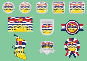 Britse Colombia vlaggen vector