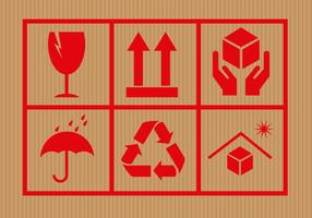 Gratis Kartonnen Symbolen Vector