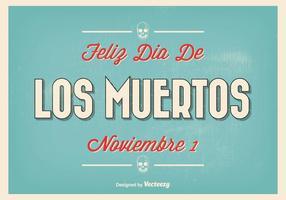 Vintage Typografische Dia de Los Muertos Illustratie