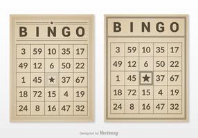 Gratis Retro Bingo Kaart Set Vector