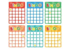 Retro bingo kaart vector