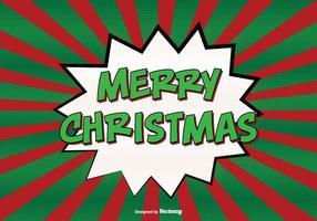 Grappige stijl vrolijke kerstmis illustratie