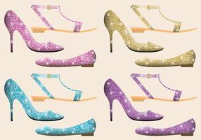 Glitter schoenen vector