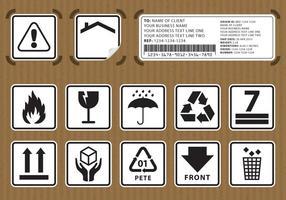 Verpakking Stickers vector