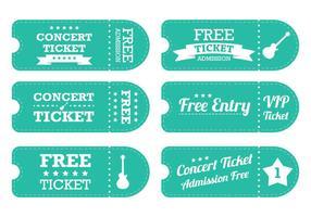 Vintage Blauwe Ticket Vector