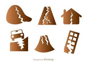 Aardbeving Schade Pictogrammen vector
