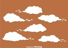 Witte stofwolk vector