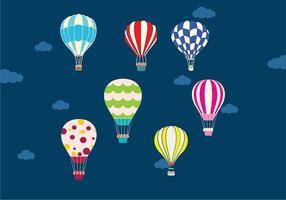 Luchtballon in de lucht vector