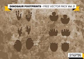 Dinosaurus Voetafdrukken Gratis Vector Pack Vol. 3