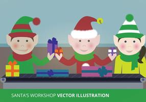 Kerstman's Workshop Vector