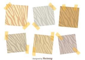 Sticky note zebra print vectoren